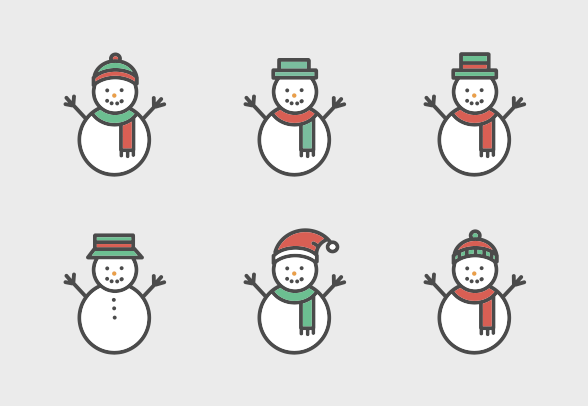 Download These Cute Snowman Vector Icons And More At Https Www Iconfinder Com Lsedesigns Cute Icons Sketch Book Cute Snowman