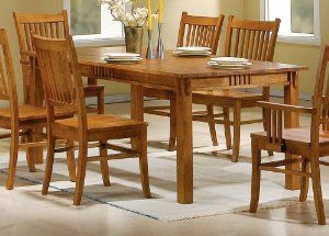 Coaster 100621 Mission Style Dining Table Burnished Oak Solid Amazing Coaster Dining Room Furniture Inspiration