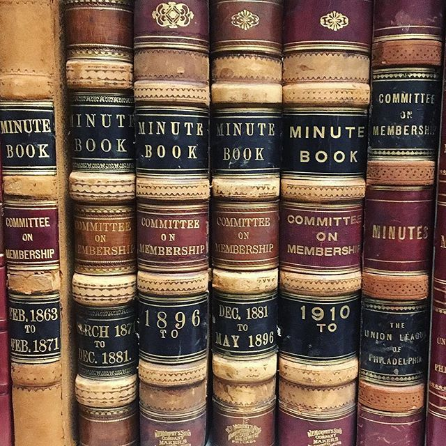 didyouknow the union league archives hold minute books used for