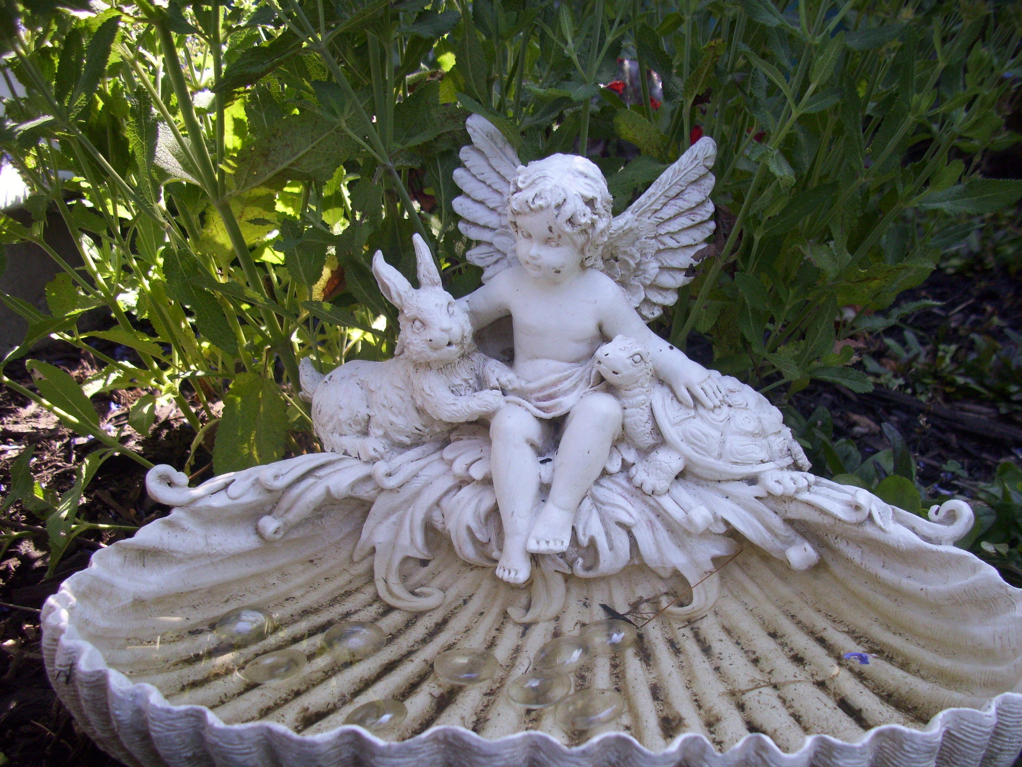 Small Garden Angel Statues Bulldog Concrete Statue Bulldog