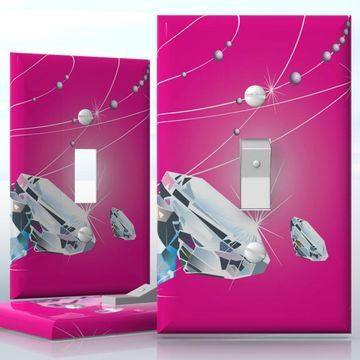 Single Toggle Light Switch Cover Decal Stickers On