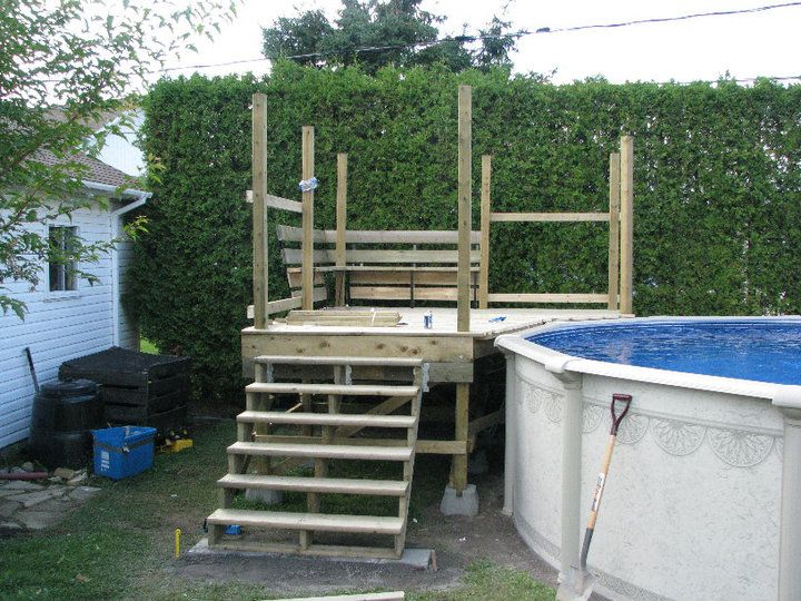 Vous cherchez un exemple de deck piscine voici quelques visuels sur la th matique deck piscine - Construire un deck de piscine hors sol ...