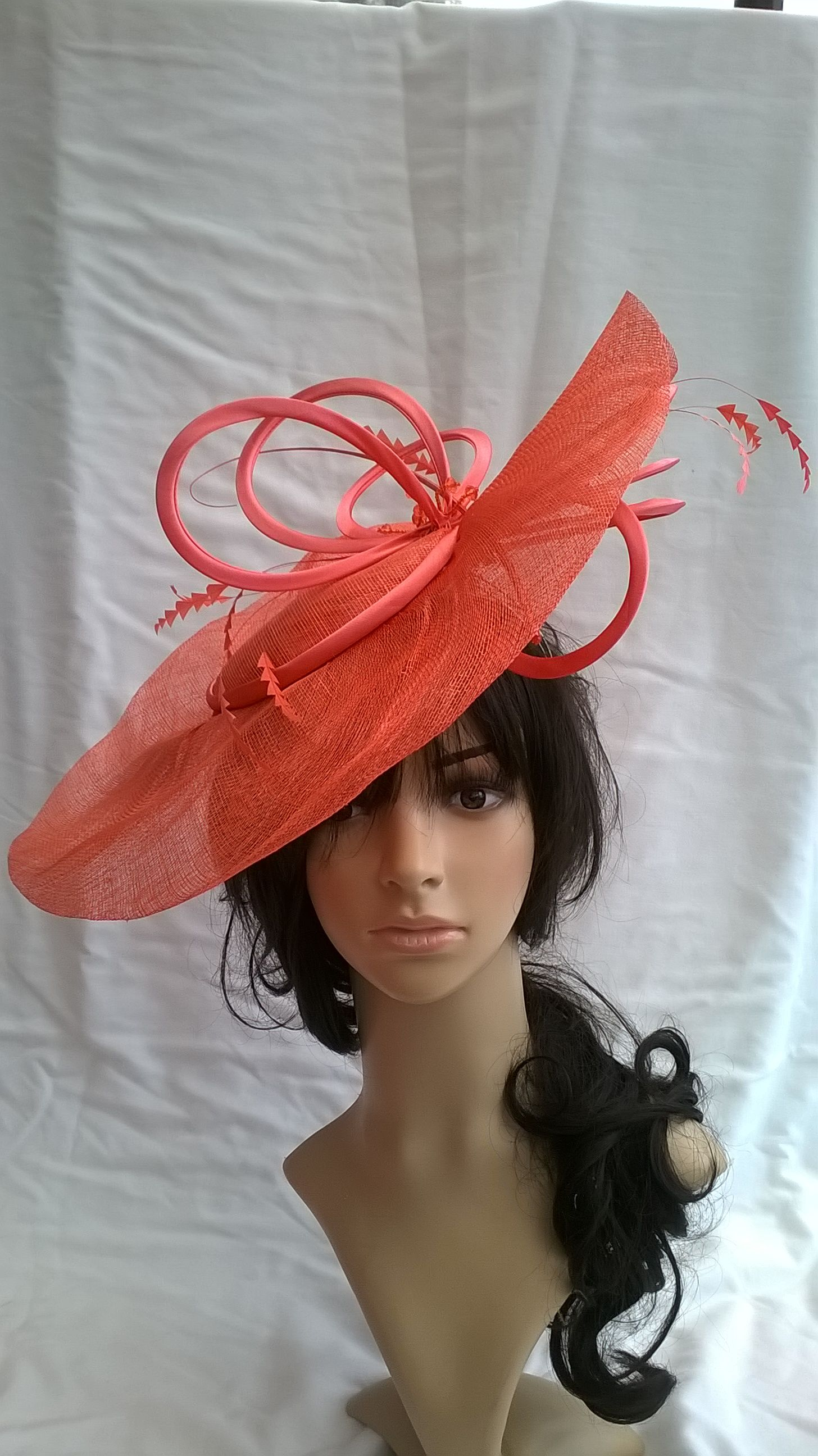 Stunning Fascinator £69.99 Coral..other colours available  facebook.com specialdayfascinator  ea91ddd6f7e