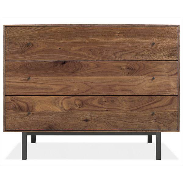 Hudson Wood Dressers - Avery Bed with Hudson in Walnut - Modern Bedroom Furniture - Room & Board