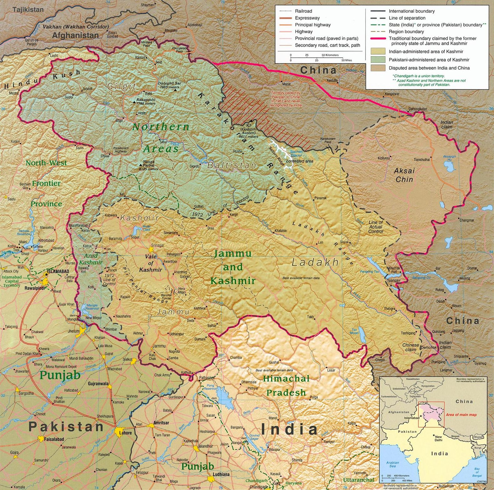 Kashmir Region 2004 Maps And Charts Cartine Geografiche Map