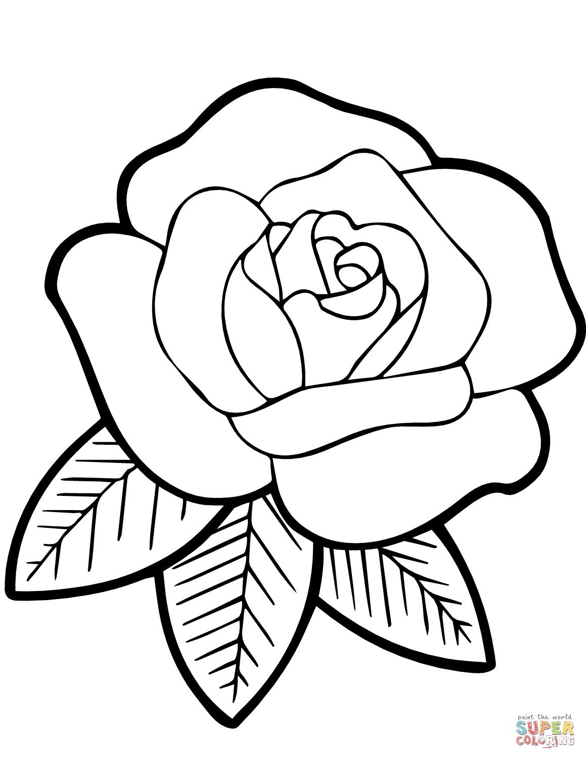 Rose Coloring Pages For Kids Rose Coloring Pages Rose Embroidery Pattern Flower Coloring Pages