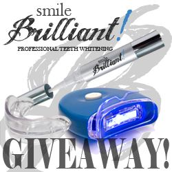 Giveaway: Smile Brilliant LED Whitening Pen ($129.95 value) - Open to US residents. Ends 7/13/12