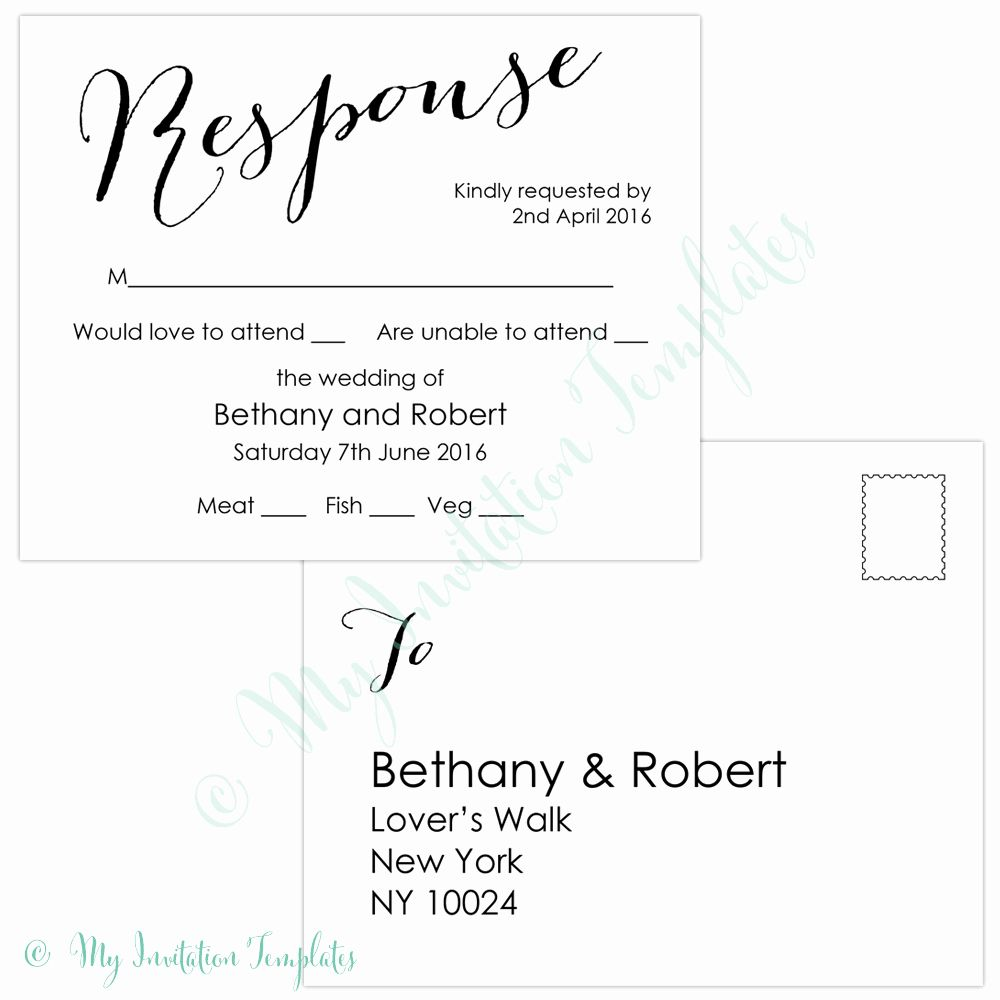 Rsvp Postcard Template Free Elegant Free Rsvp Template Wedding Rsvp Postcard Postcard Template Free Postcard Template