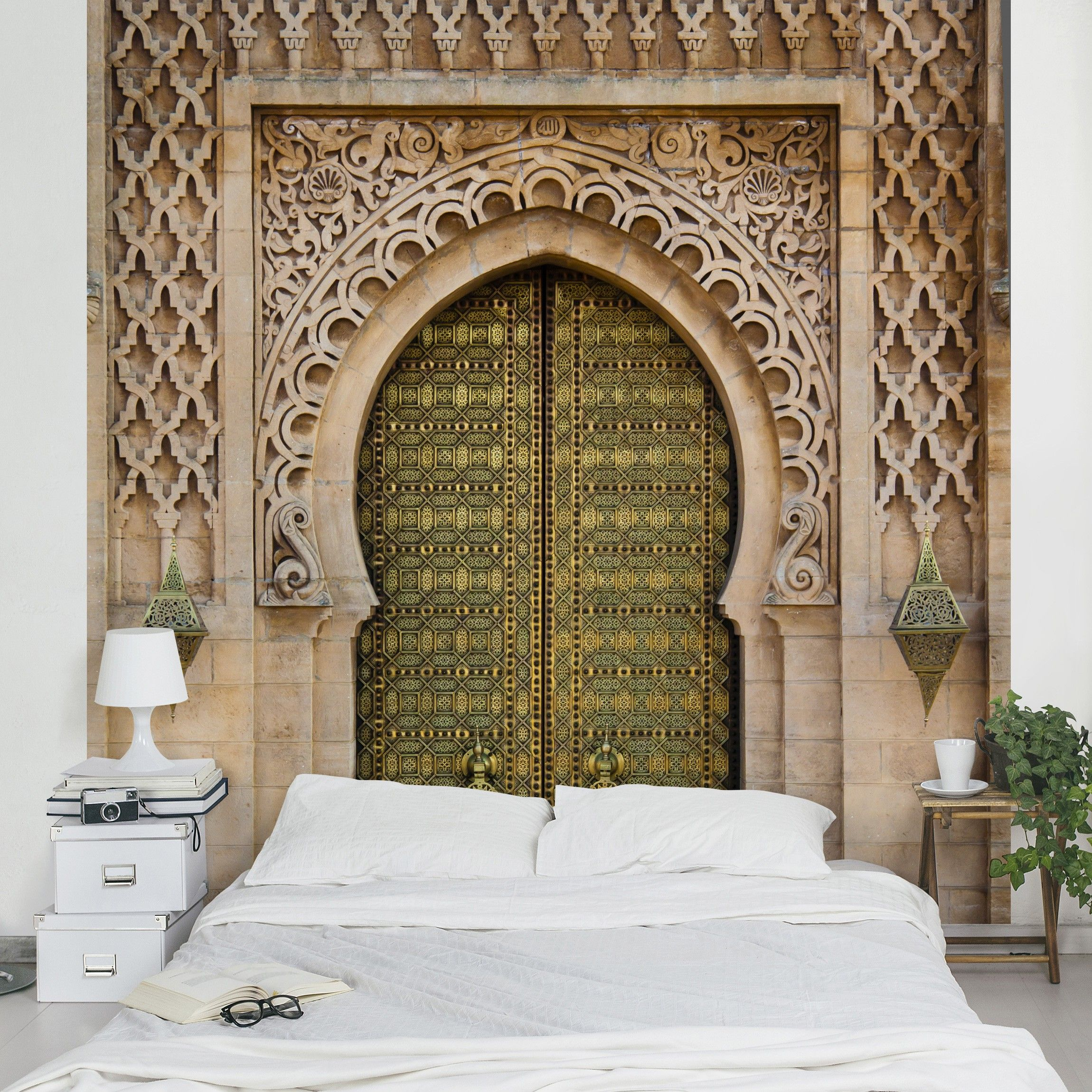 design tapete oriental gate vlies fototapete quadrat interior design tapeten fototapete. Black Bedroom Furniture Sets. Home Design Ideas