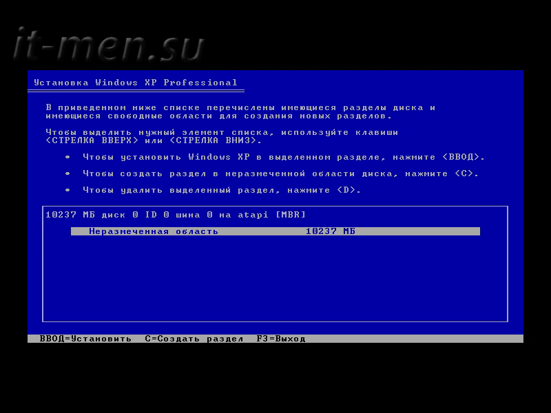 Установка windows xp пошаговая инструкция