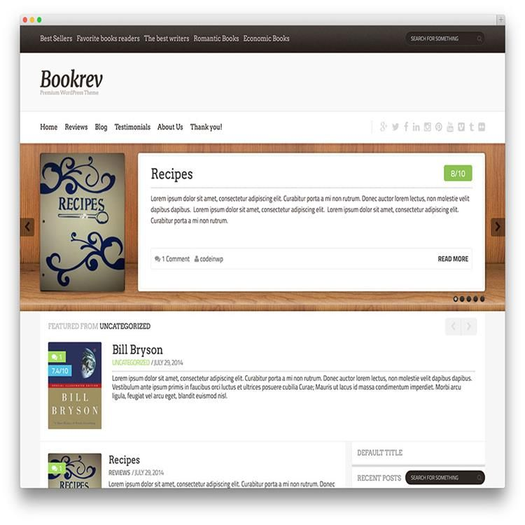 bookrev-lite-bookstore-wordpress-theme | Business Corporate ...