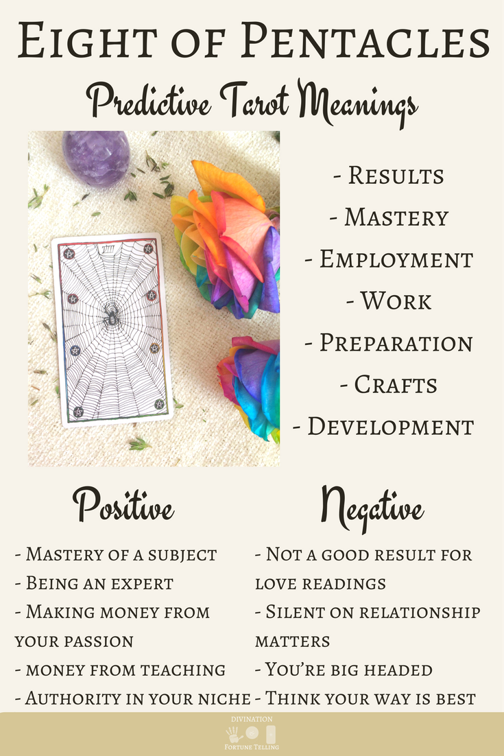 Eight of Pentacles: Predictive Tarot Card Meanings | The Tarot