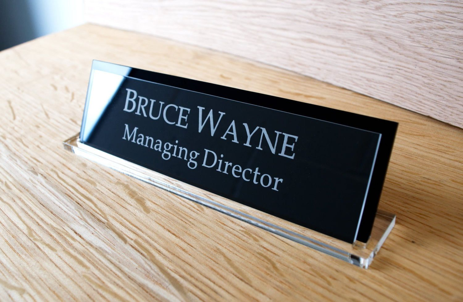 Executive Personalised Desk Name Plate With Gift Box Custom Engraved Sign Office Plaque Present Decoracion De Unas Letreros Fichas