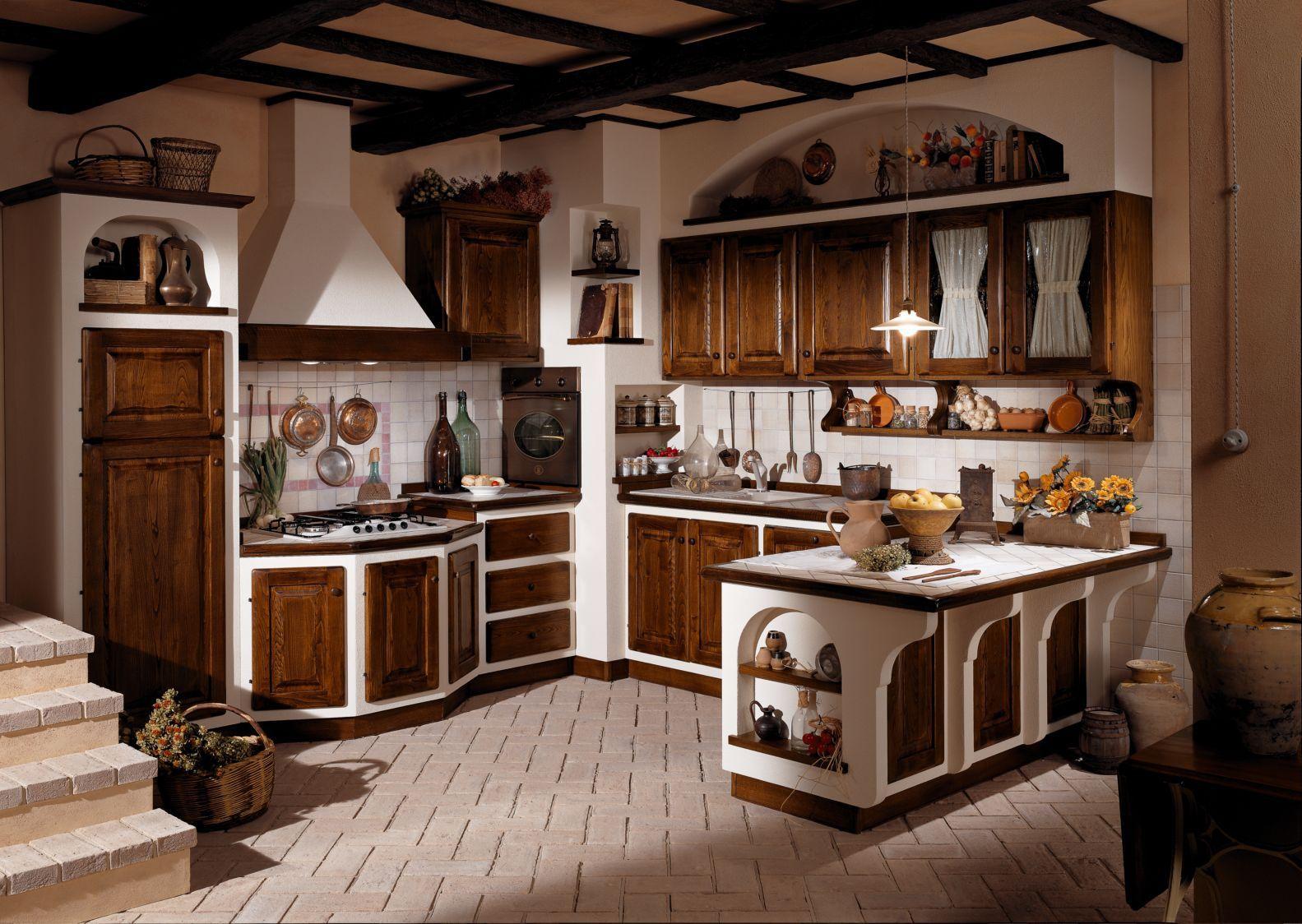 Cucine In Muratura Pittori Foto Cucine Country #BA7B11 1583 1124 ...