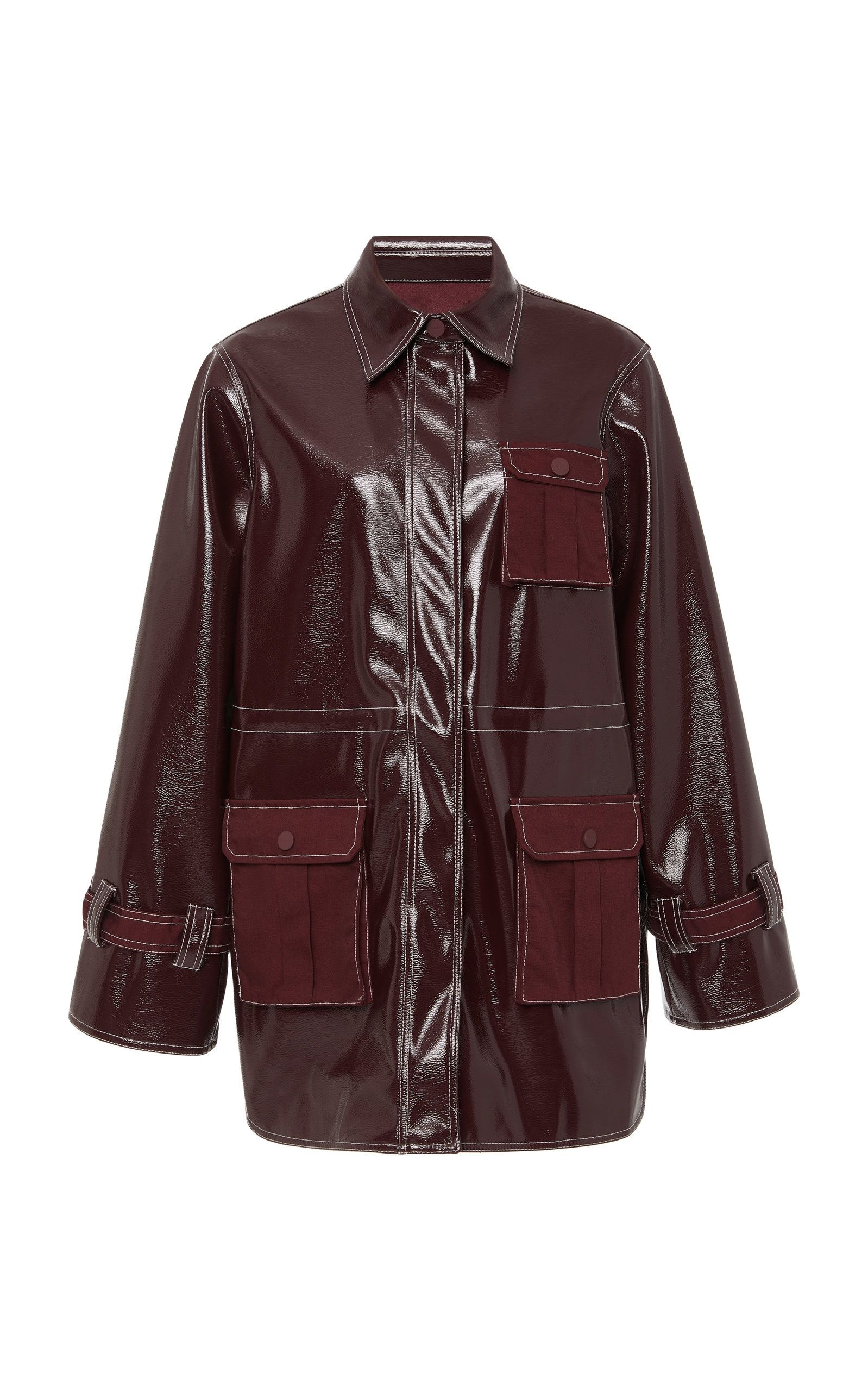 Click Product To Zoom Leather Leather Jacket Ganni [ 2560 x 1598 Pixel ]