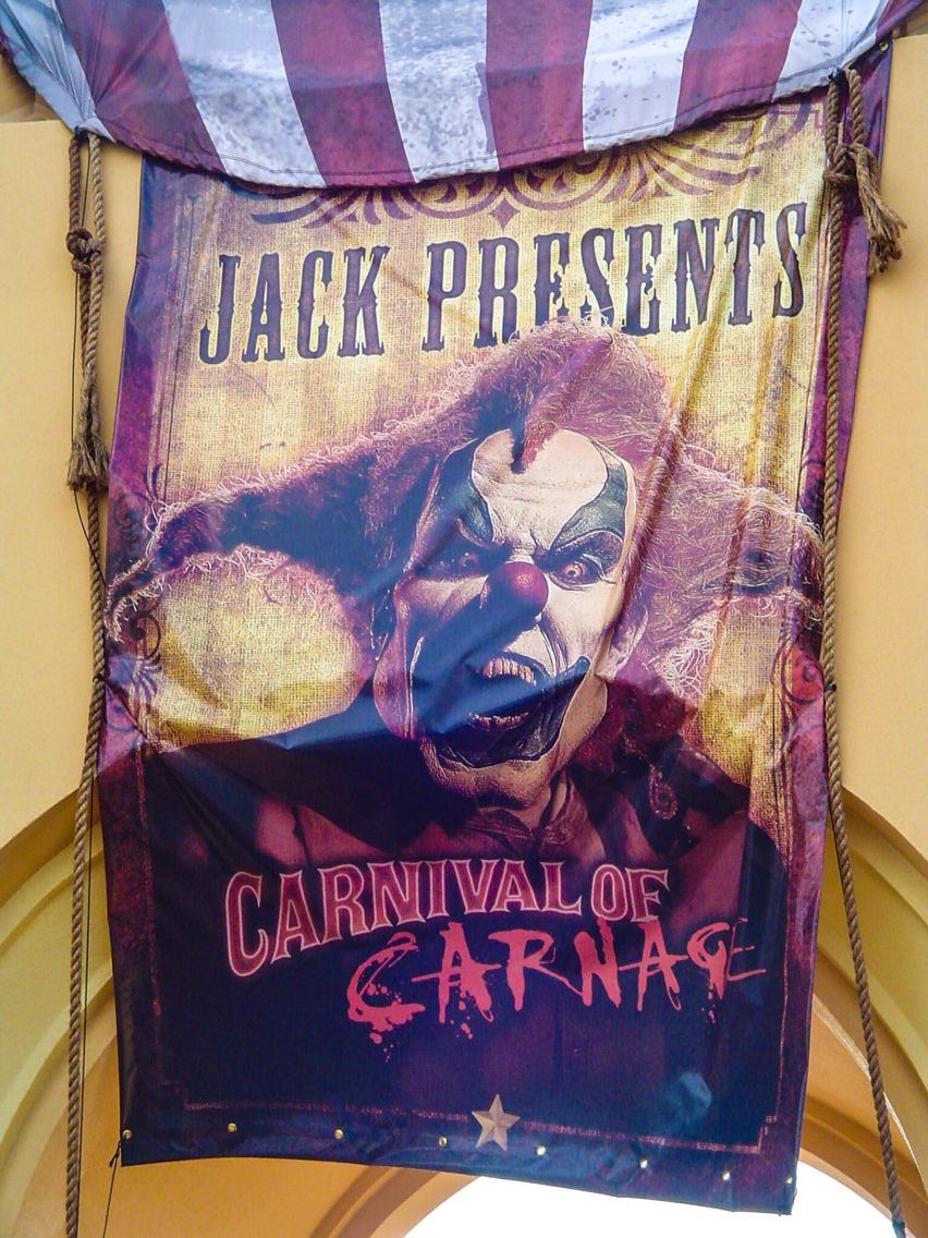 HHN 16 Carnival of Carnage Halloween horror nights