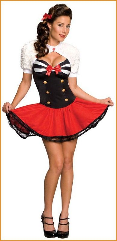 Navy Pin-Up Girl Halloween Costumes Adult