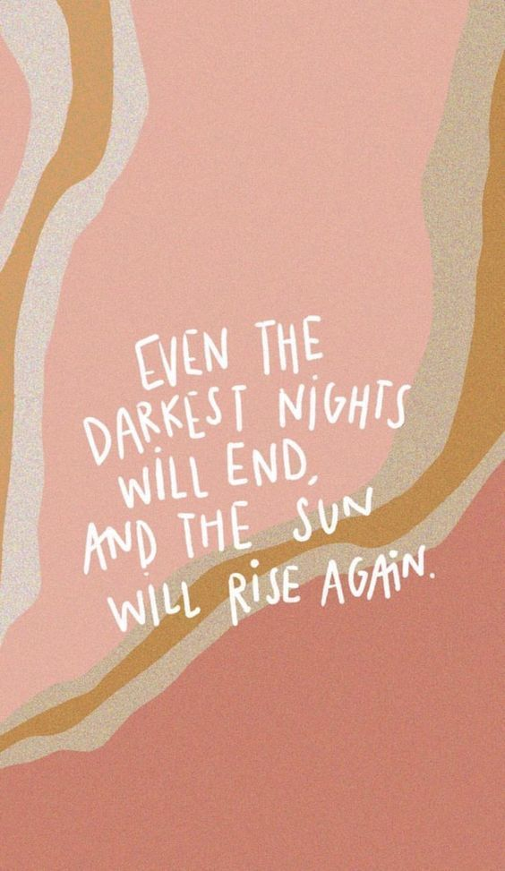 Even the darkest nights will end, and the sun will rise again.  #inspirationalquotes