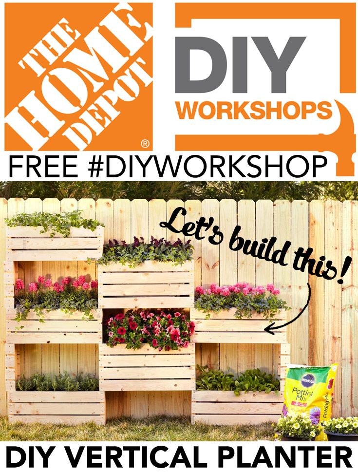 Learn How To Build This Beautiful Vertical Planter At Home Depot S