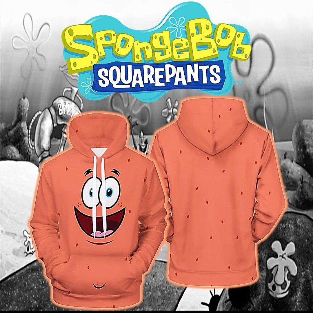 Patrick Spongebob Faded Galaxy Sweater 3D Print