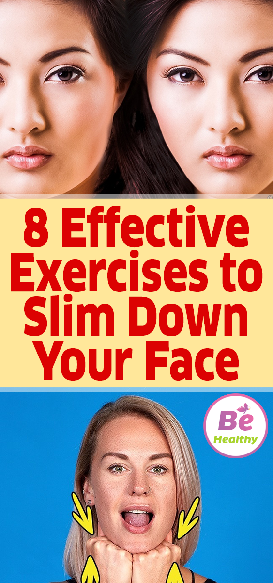 how to slim down face