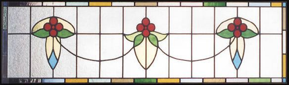 horizontal stained glass patterns | glass victorian style transom ...