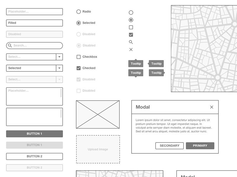 basic wireframe kit | free sketch app resources | pinterest, Powerpoint templates