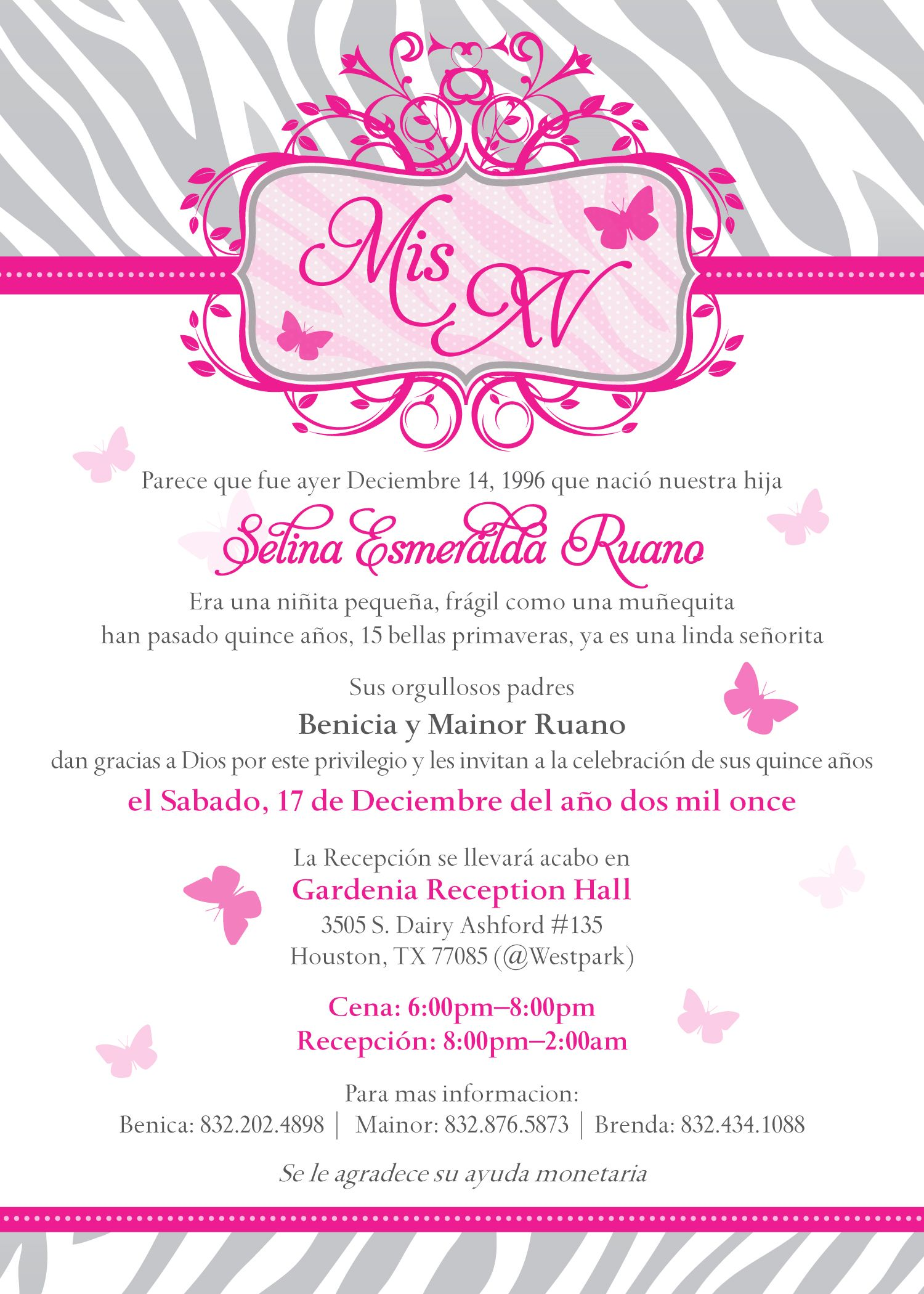 Sweet 15 Party Invitation Mis Quince – Quince Party Invitations