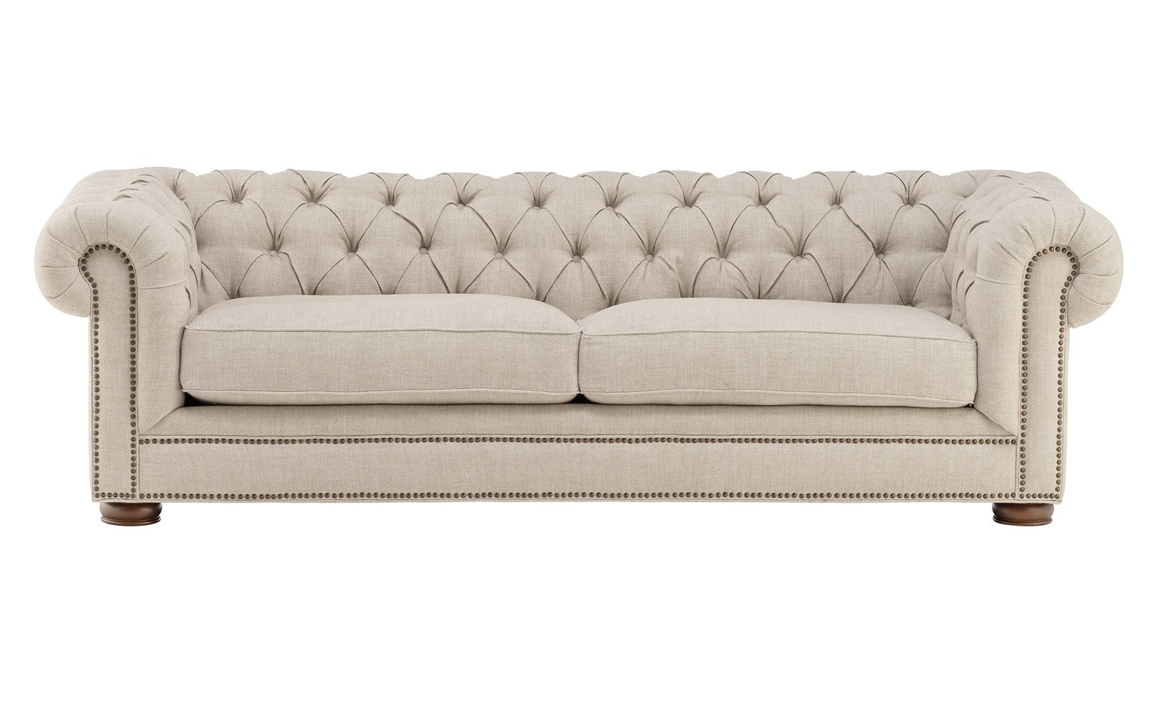 Huomo Linen Chesterfield Sofa Chesterfield Sofa Upholstered Sofa Living Room Leather