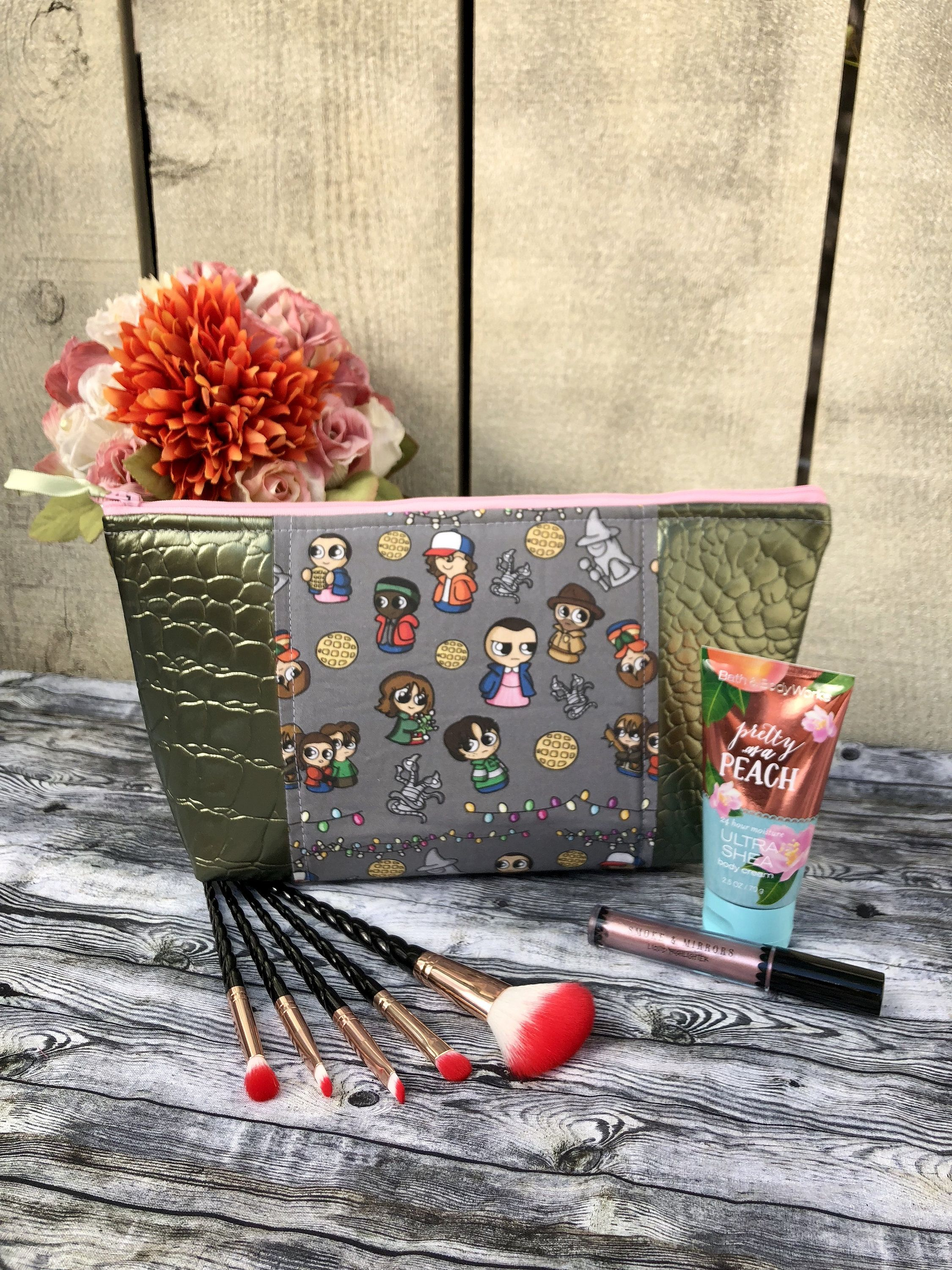 Stranger Things beauty bag.. may have been made with skin