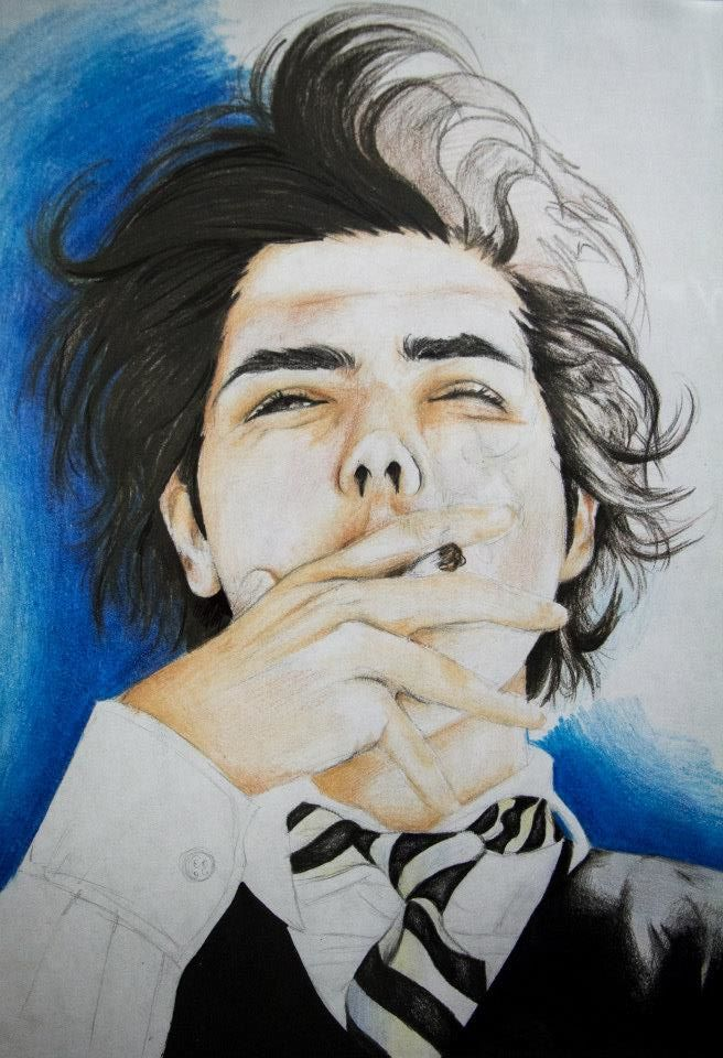 This is my drawing of Gerard Way from My Chemical Romance ...