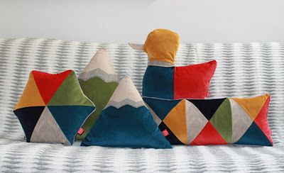 Love the modern colors and design of these kiddo pillows