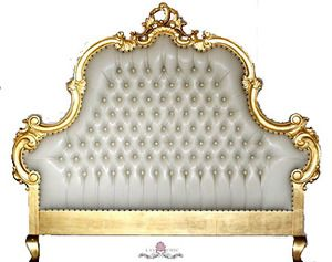 Liv Chic Furniture Traditional Bed Gold Headboard Furniture