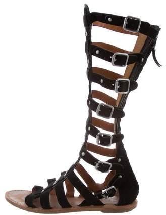 40317830e8f Ash Suede Gladiator Sandals