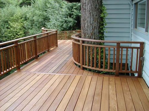 Imaged of decks with pressure treated wood aluminum wire for Pressure treated decking