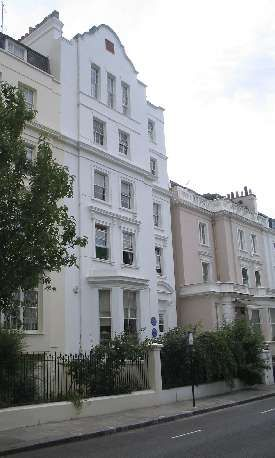 22 Hyde Park Gate, Kensington. Virginia Woolf's birthplace and childhood home until 1905.