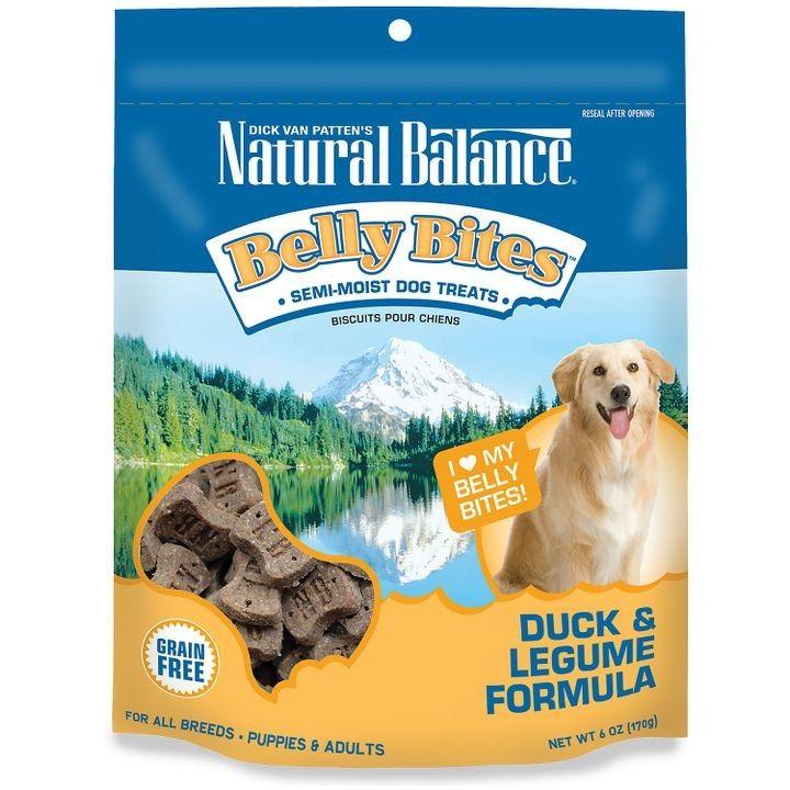 Duck legume grain free belly bites dog treats dog