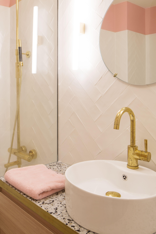 Sol Terrazzo Coulé Prix bateaumagne architecture - maurice barrès - salle de bain