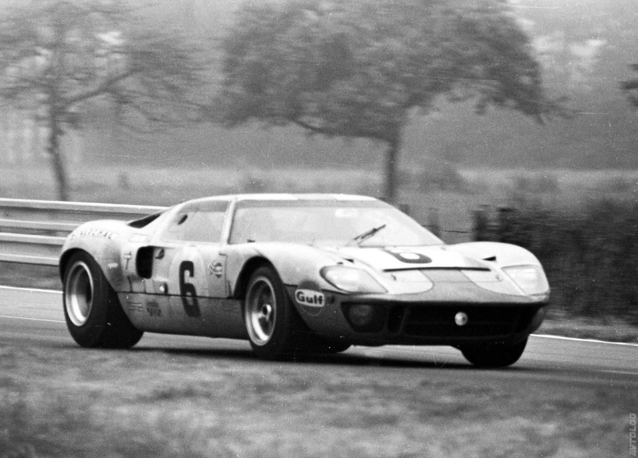 1966 Ford GT40; Quite possibly the coolest looking car ever made ...