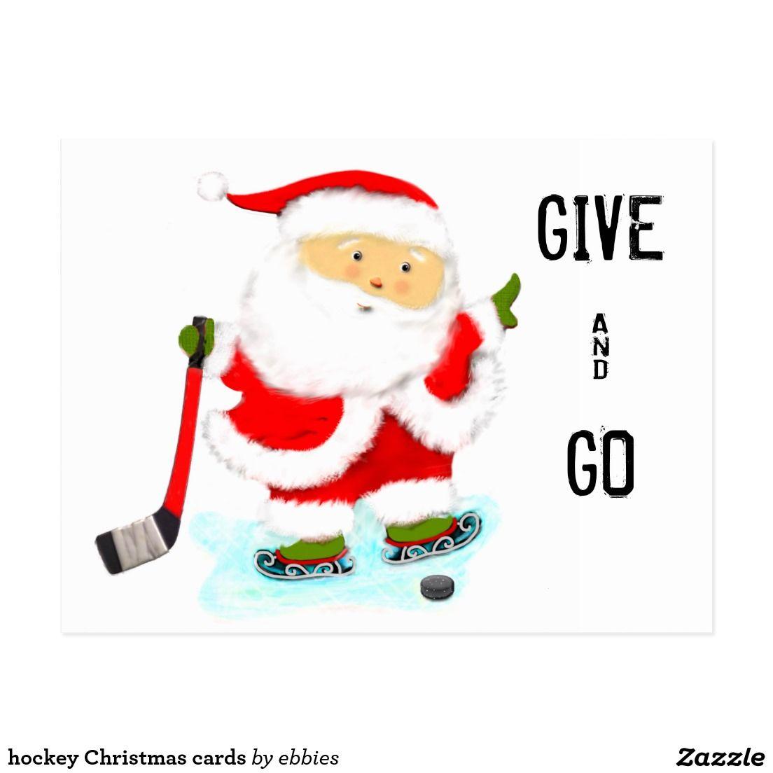 hockey Christmas cards   Christmas Cards & Address Label ...