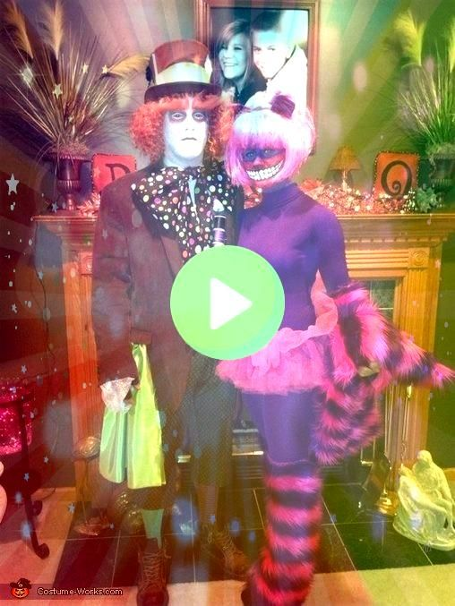 Hatter and Cheshire Cat  Halloween Costume Contest at Costume Mad Hatter and Cheshire Cat  Halloween Costume Contest at Costume  Happy my Beautiful Shining Stars What are...
