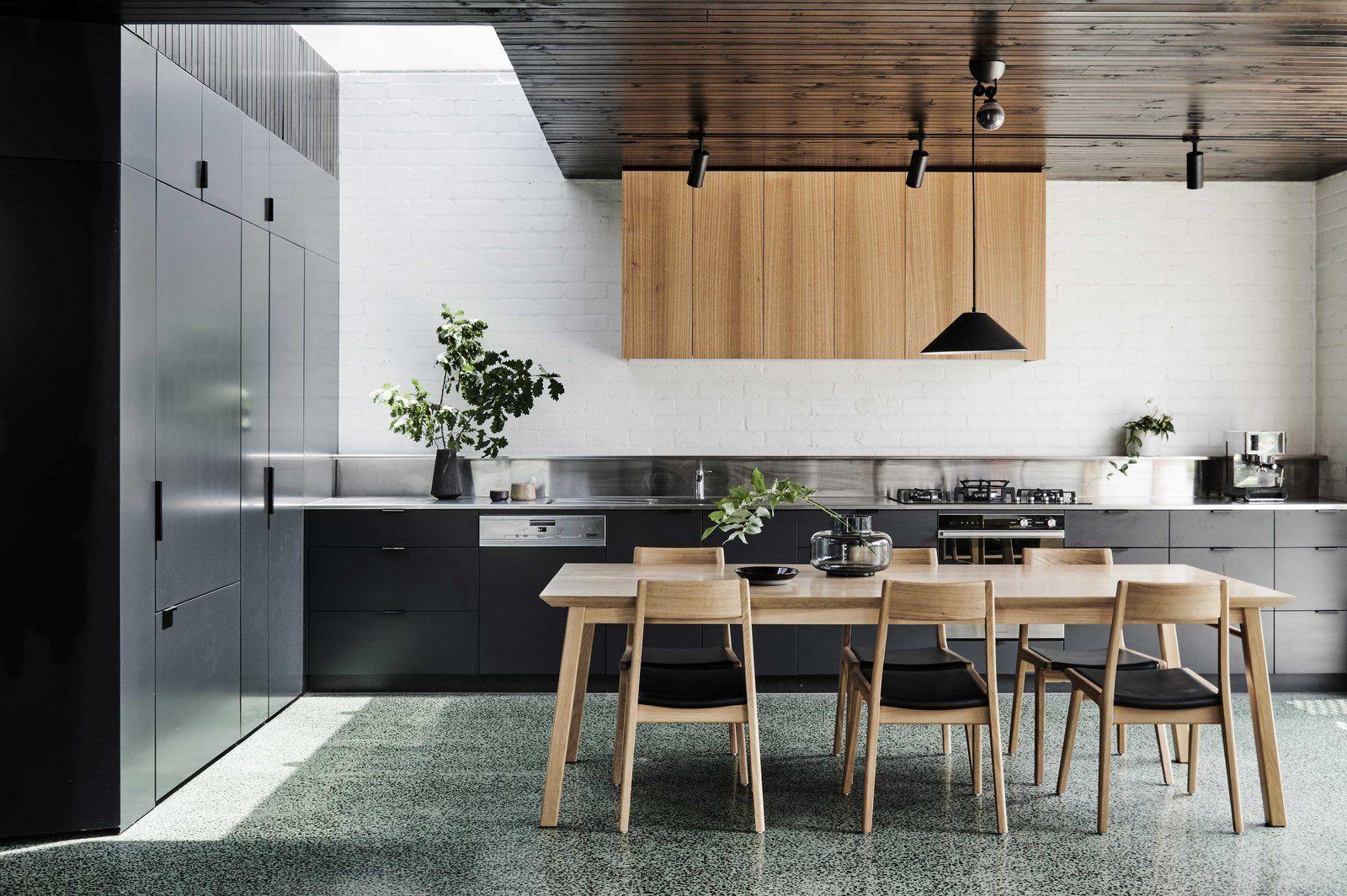 Kitchen Ceiling Lighting Range Wall Oven Range Hood Terrazzo Floor Drop In Sink Brick Backsplashe R Kitchen Sink Design Timeless Kitchen Modern Kitchen