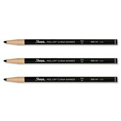 Brand New Sharpie China Wax Marker Pencil Peeloff Unwraps to Sharpen Black Ref S0305070 Pack 12 >>> Be sure to check out this awesome product.