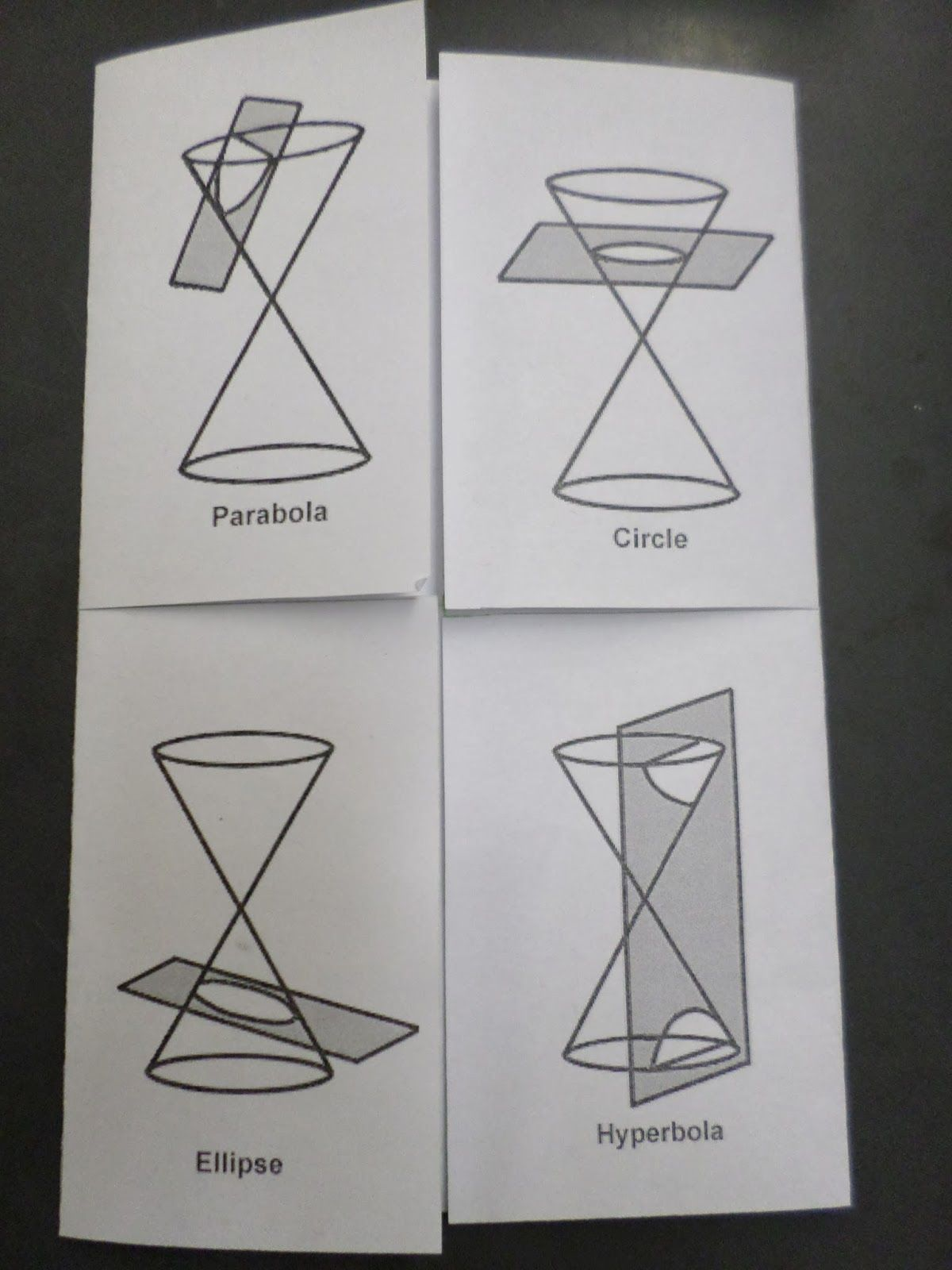 Conic Section Foldable