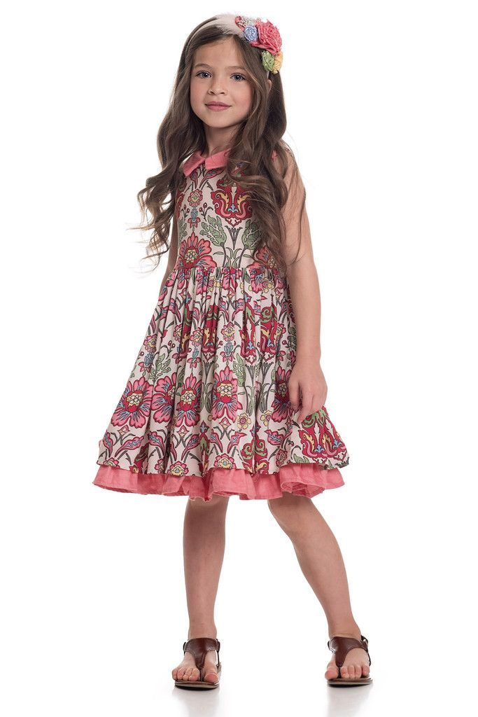 Josephine Dress - Multi – Persnickety Clothing available in size 2-12. Perfect paired with boots for a pink cowgirl party!