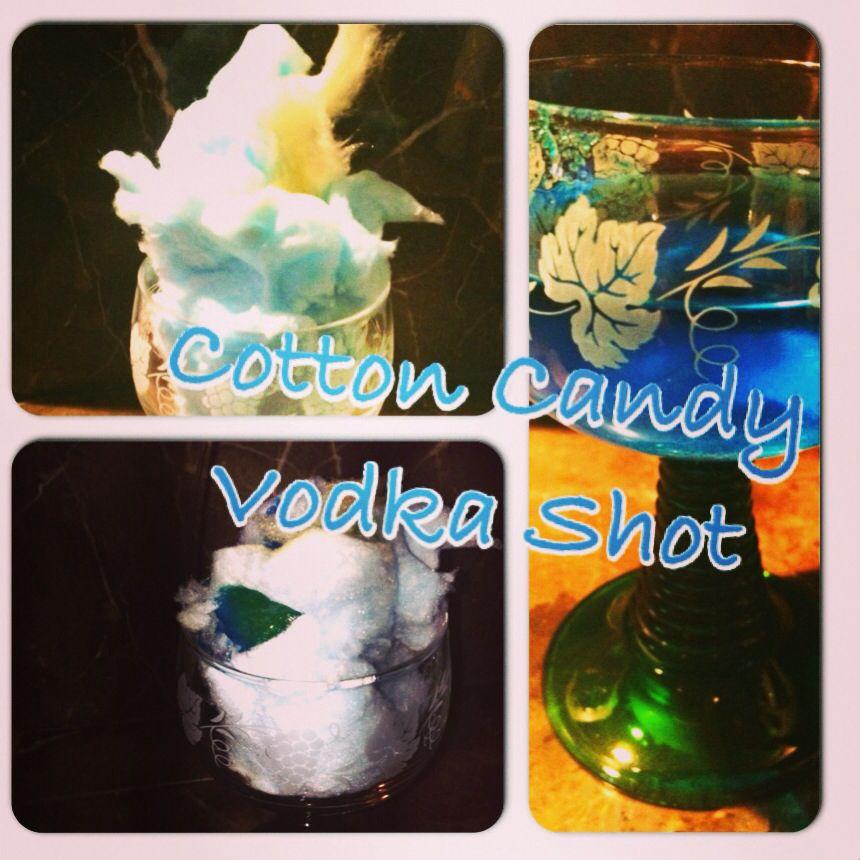 1) stuff cup full of Cotton Candy 2) pour a double shot of vodka over the top 3) Enjoy!!!   #cottoncandyshots