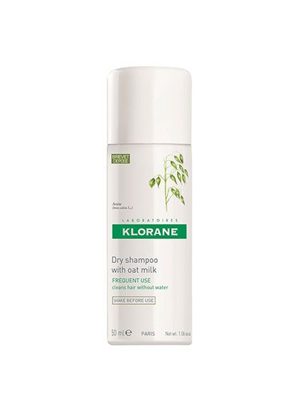 Klorane Dry Shampoo With Oat Milk Unlike those texturizing sprays pretending to be dry shampoos, this corn-and-rice-starch spray absorbs oil and dirt for just-washed softness and fluff, just as the name suggests.  Klorane Dry Shampoo With Oat Milk, $10 for 1 ounce (sephora.com).