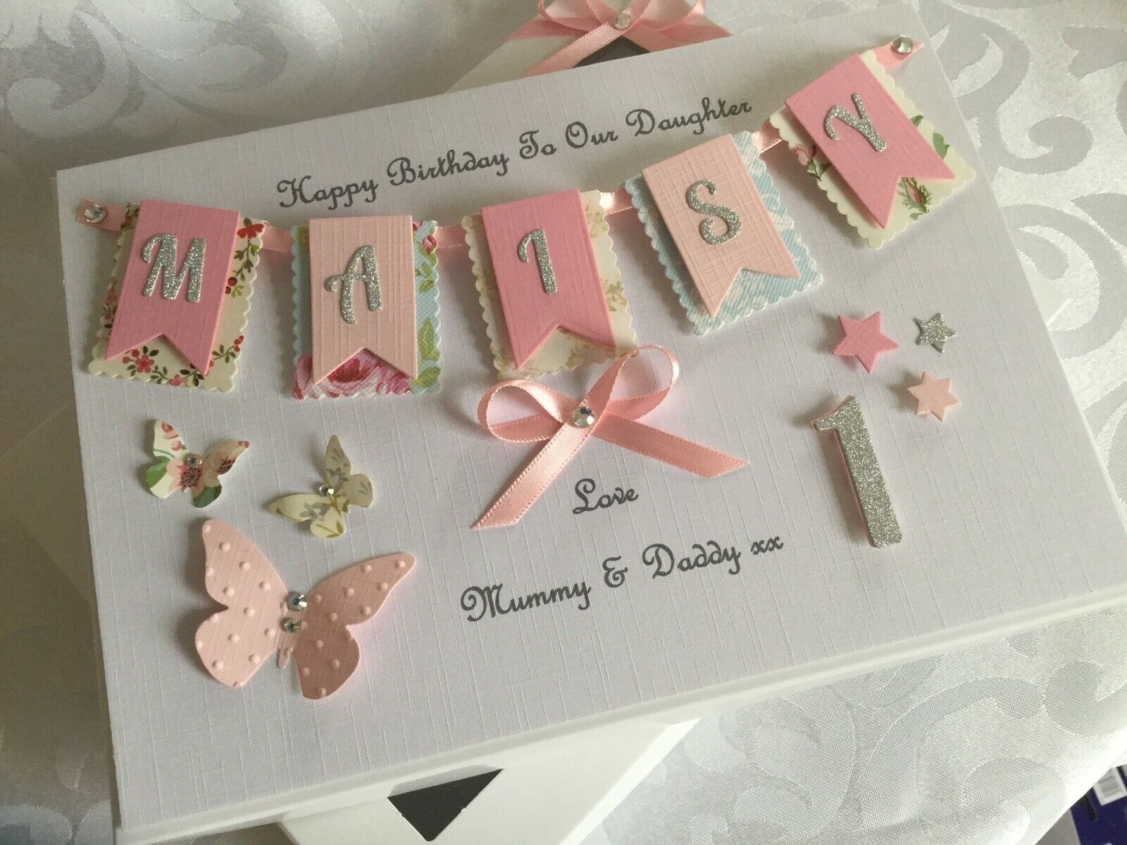 Personalised Boxed Card Girls 1st Birthday Daughter Granddaughter First 1 2 3 4 Ebay First Birthday Cards Birthday Card Craft Girl Birthday Cards