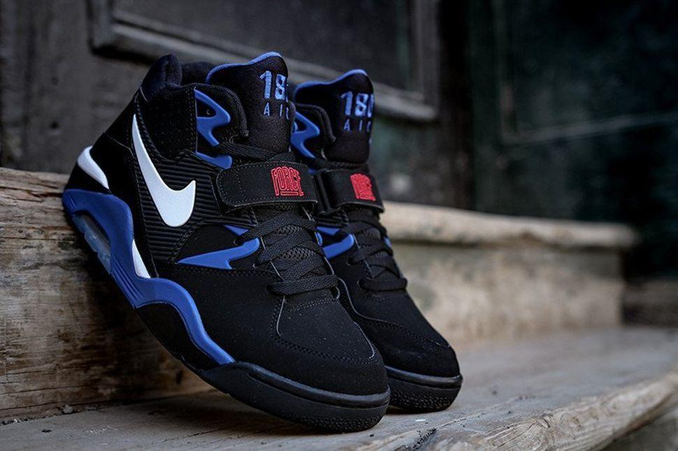 nike air force 180 black on feet