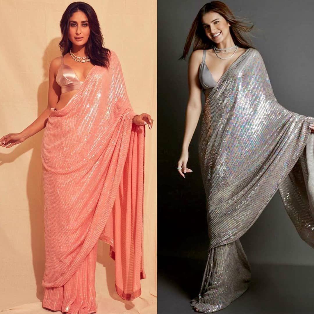 Designer Manish Malhotra Georgette Sequence Saree